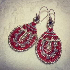 red_sterling_silver_earrings